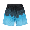 Wholesale Navy Fire Grids Printed Men's Trunk