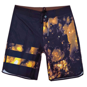 Wholesale Navy Ground Halo Printed Men's Trunk 2021 Trend Swimming Shorts