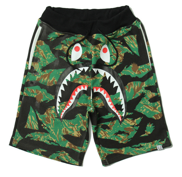Wholesale Shark Teeth Print Men's Trunk 2021 Trend Swimming Shorts