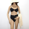 Costom Tummy Control Bikini Bottoms Sexy Black high Waisted Two Piece Swimsuit 2020