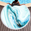 Custom Larger Marble Quick Dry Round Microfiber Beach Towel For Summer
