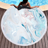 New Marble Designs Quickly Dry Round Printed Microfiber Beach Towel 2020