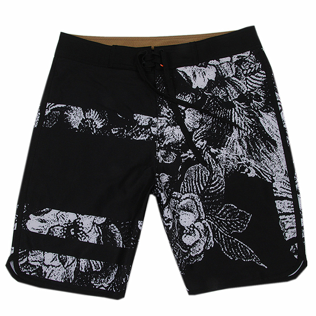 Wholesale Black Ground Floral Printed Men's Trunk