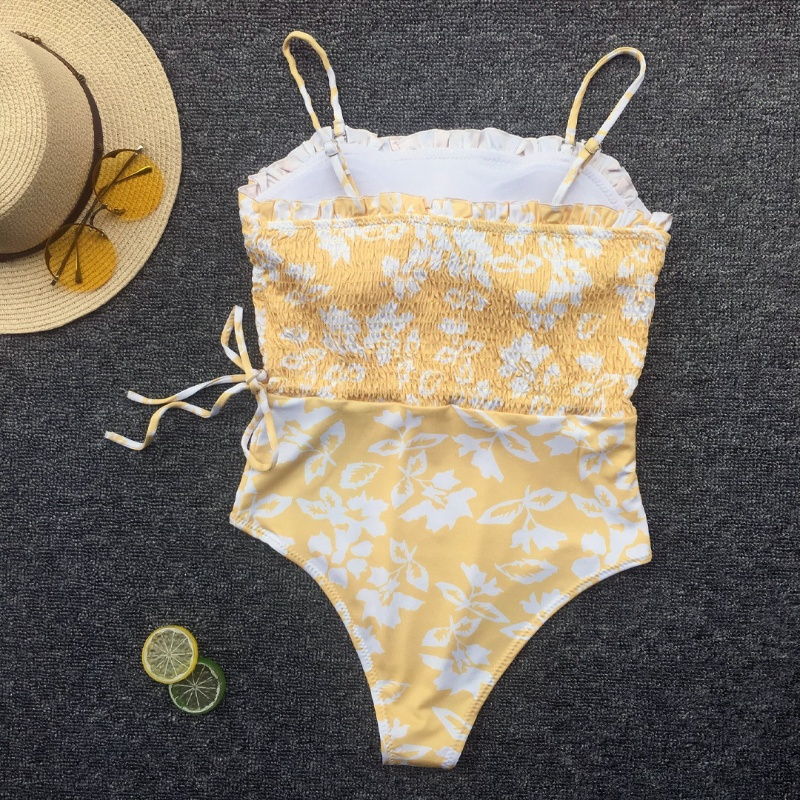 Custom Strappy Floral One Piece Swimsuit 2020