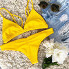 Custom Bikini Two Piece Suits Yellow Swimsuits Girl Sexy
