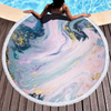 Factory Hot Seller Custom Larger Pink Marble Quick Dry Round Microfiber Beach Towel 2020