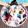 Factory Hot Seller Marble Quick Dry Microfiber Beach Towel with Tassels For Summer