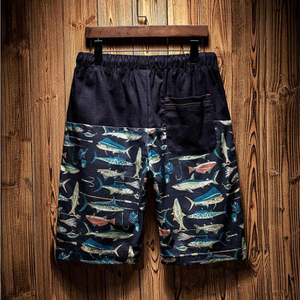 Wholesale Black Shark Printed Men's Trunk 2021 Trend Swimming Shorts