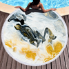 Factory Mixed Colored Marble Quick Dry Round Microfiber Beach Towel for Summer